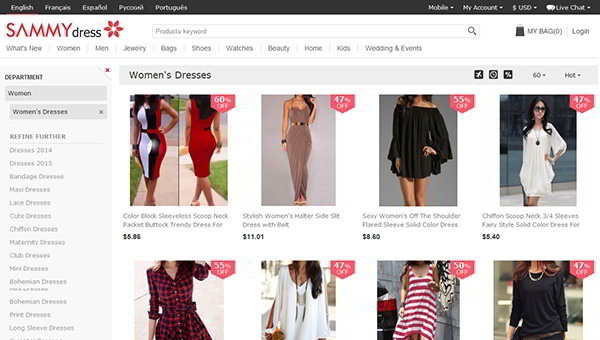 SammyDress Screenshot